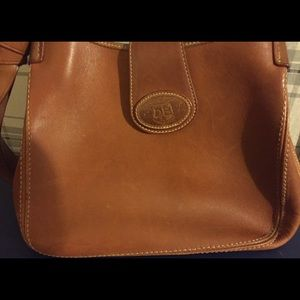 Great Cond!! Brown Real Leather D&B Purse 👜👜👜